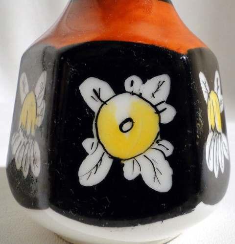 antiguo florero ceramica francesa bostard sellado