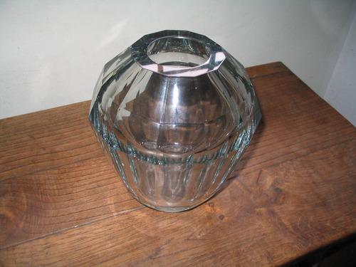 antiguo florero de cristal sueco