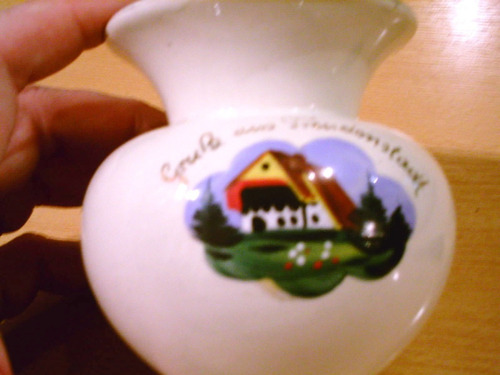 antiguo florero porcelana alemania freudenstadt