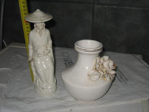 antiguo florero, regalo  figura chino