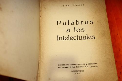 antiguo folleto palabras a los intelectuales fidel castro