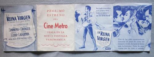 antiguo folleto programa del cine metro