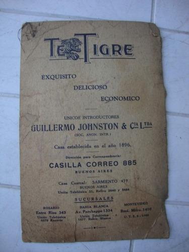 antiguo folleto publicidad te tigre