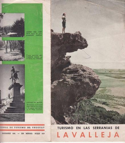 antiguo folleto turismo en sierras de minas lavalleja