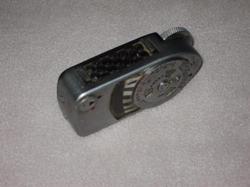 antiguo fotometro sin baterias marca leica aleman