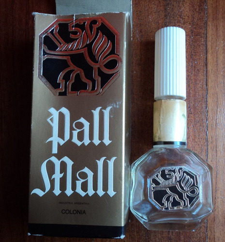 antiguo frasco de colonia pall mall - vacio con caja