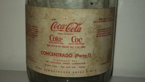 antiguo frasco de concentrado de coca cola rarisimo