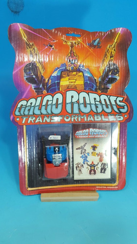 antiguo galgo robot transformer en su blister original