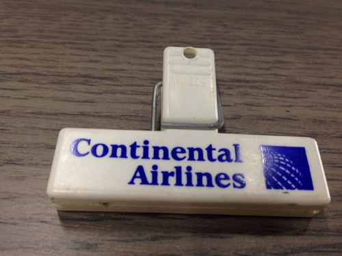 antiguo gancho a presión aerolínea continental airlines