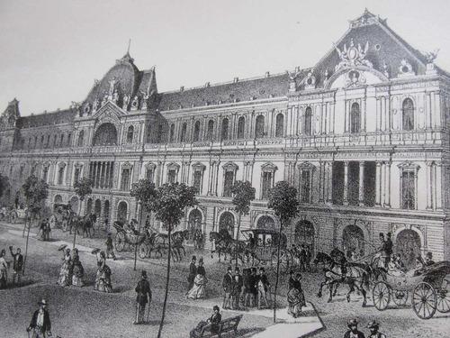 antiguo grabado santiago portal fernandez concha año 1890