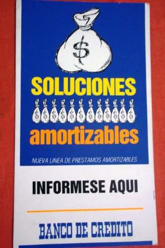 antiguo gran cartel propaganda banco de credito