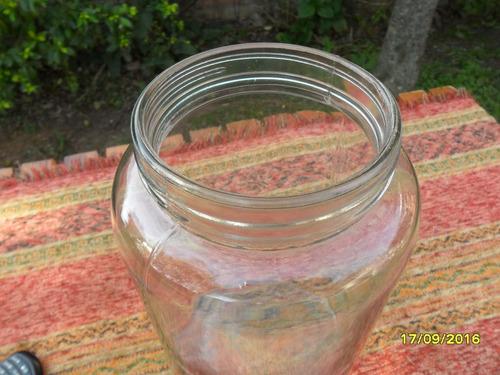 antiguo gran frasco vidrio de almacen tipo caramelera sano