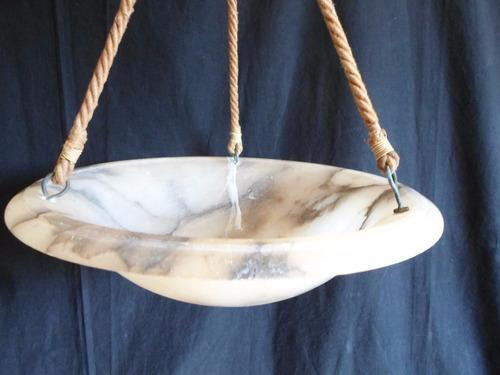 antiguo gran plafón de techo colgante en alabastro arte deco