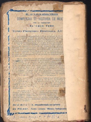 antiguo historia de méxico la dominación española, 1926