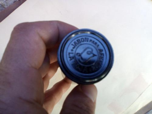 antiguo jabón de afeitar la roja 4cm diámetro x 8,7cm alto
