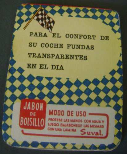 antiguo jabon de bolsillo, suval, 1960