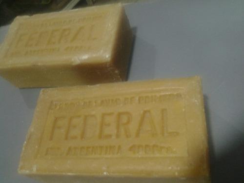 antiguo jabon para lavar federal.ocre.pan de 400 grs.unicos!