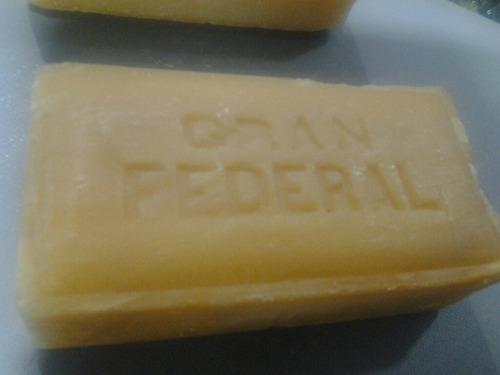 antiguo jabon para lavar  gran federal blanco.nuevos.unicos