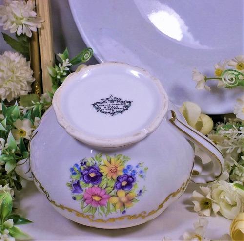 antiguo jarro cremero o salsera pequeña  porcelana limoges