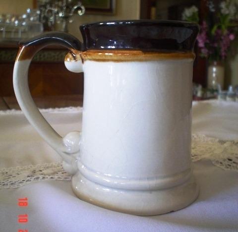 Antiguo jarro shopero de cer mica espejo en - Espejos de ceramica ...