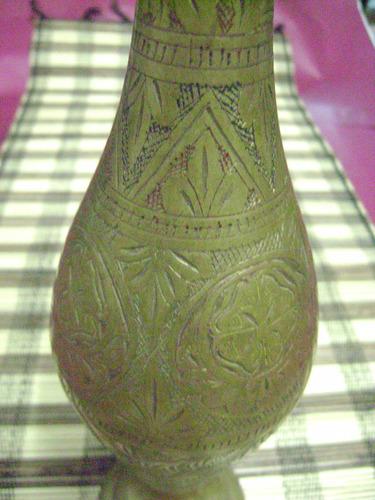 antiguo jarrón de bronce 01167