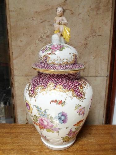 antiguo jarron florero potiche choisy le roy  est. meissen