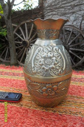 antiguo jarron tipo plata baja boliviana, sin sello cuños