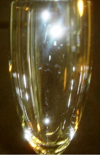 antiguo juego de 3 copas vidrio  con delicado tallo  (793p)