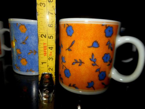 antiguo juego de 6 tazas de cafe petit porcelana fina sellad