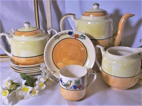 antiguo juego de café porcelana japonesa