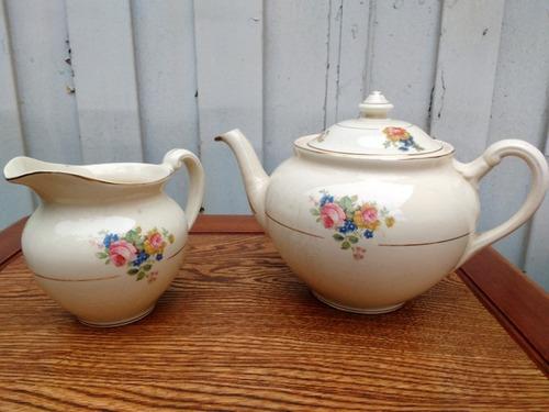 antiguo juego de café porcelana lozalit 8 piezas selladas