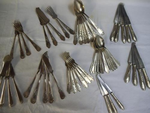 antiguo juego de cubiertos hoja acero francés envíos jl