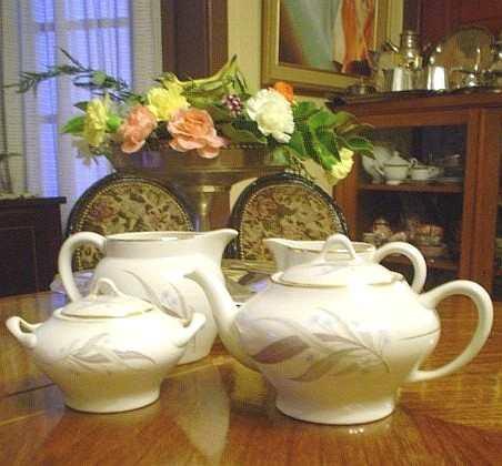 antiguo juego de té, porcelana chileno