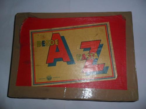 antiguo juego desde a hasta la z juegos mundial letra madera