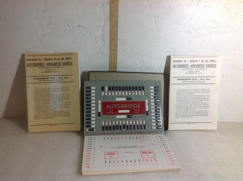 antiguo juego manual de cartas autobridge 1957 kzr
