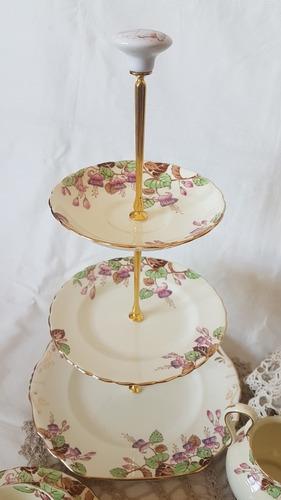 antiguo juego para té/lunch de porcelana inglesa new chelsea