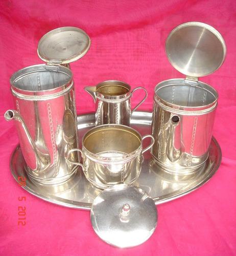 antiguo juego wmf metal plateado bandeja,tetera,cafetera272p