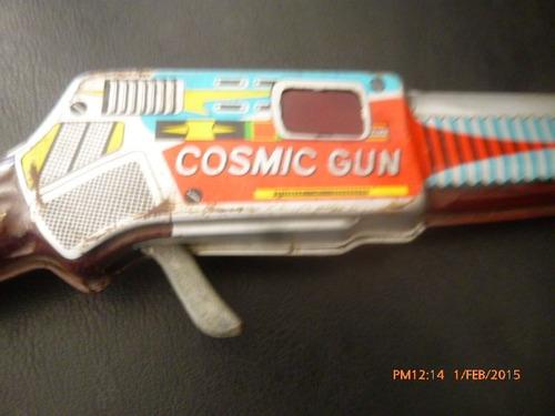 antiguo jugueta de lata japones metralladora a friccion