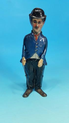 antiguo juguete aleman a cuerda b&d año 1920 charles chaplin