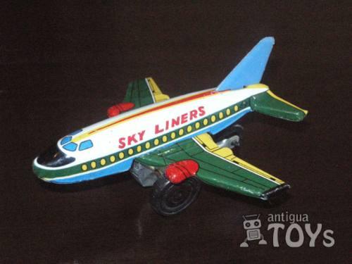 antiguo juguete avion hojalata chapa (tin toy)