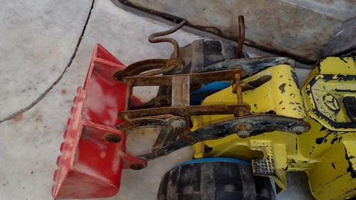 antiguo juguete camion tractor pala caucho duravit usado