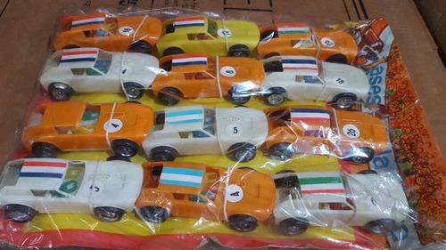 antiguo juguete - carton 12 autos tc 1970-nuevos- liebre etc
