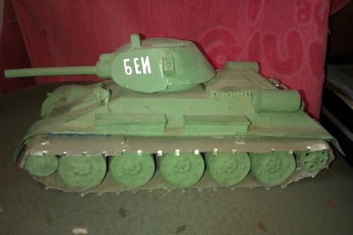 antiguo juguete de chapa - tanque ruso - 2 guerra m - (t/34)
