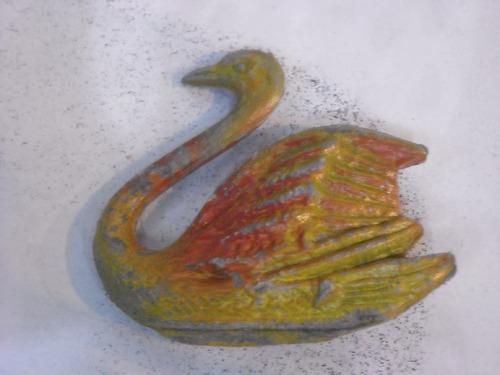 antiguo juguete de plastico cisne de granja
