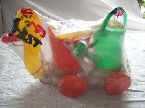 antiguo juguete de plástico inflado marca lunaplast