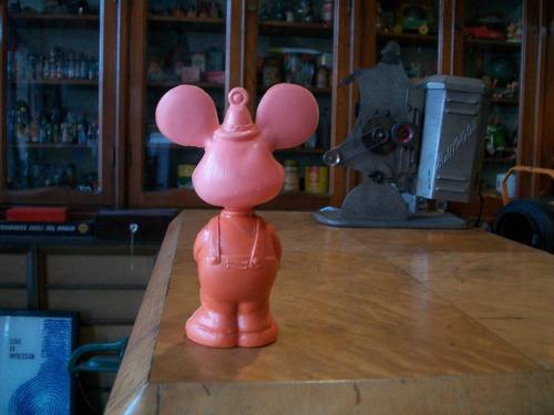antiguo juguete muñeco topo gigio en plástico inflado