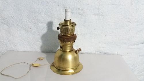 antiguo lampara pie farol bronce pantalla tela altura 60cm