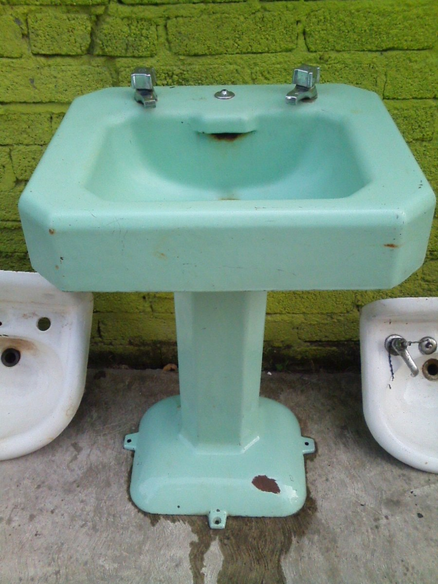 Antiguo lavamanos de fierro 1 en mercado libre for Inodoros antiguos