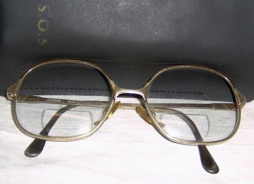 antiguo lente bifocal c/funda marca giesse perfecto estado