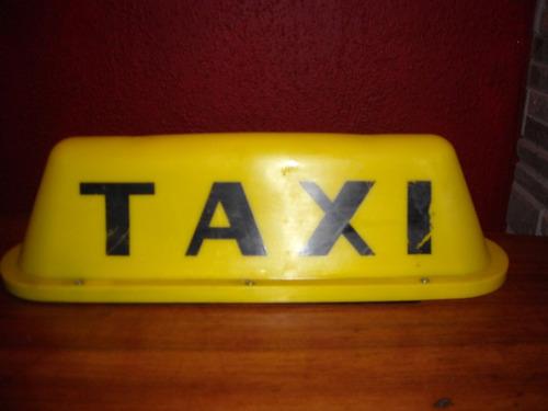 antiguo letrero de taxi iluminado, con iman, ideal para bar